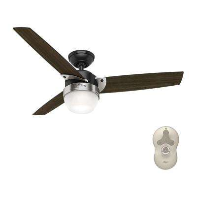 Flare 48 in. LED Indoor Matte Black Ceiling Fan with Light and Universal Remote