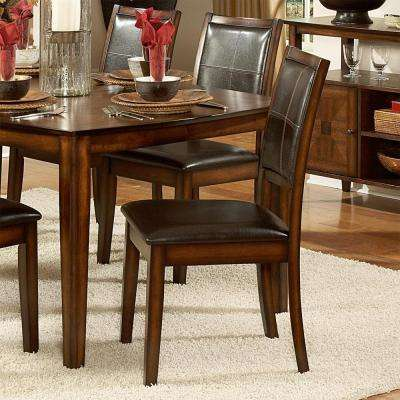 Dark Chocolate Faux Leather Dining Chair (Set of 2)