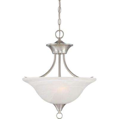 Trinidad 2-Light Brushed Nickel Pendant/Semi Flush-Mount Light