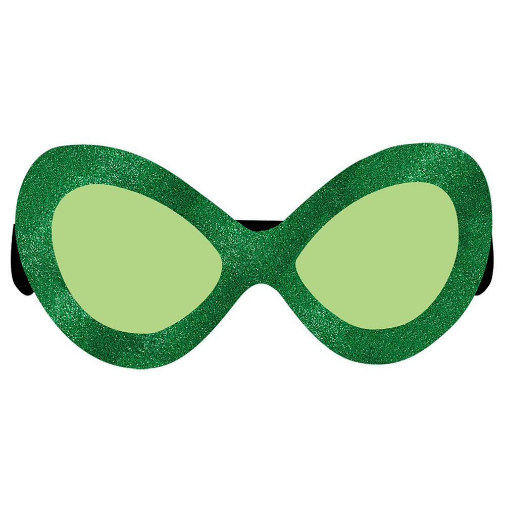 AMSCAN Green Plastic Diva St. Patrick's Day Glasses (2-Pack)