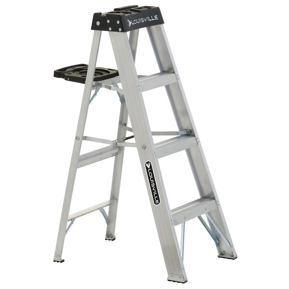4 ft. Aluminum Step Ladder with 300 lbs. Load Capacity Type