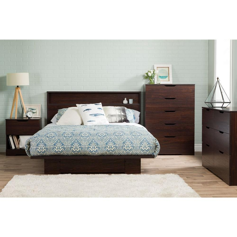 south shore holland fullqueen platform bed