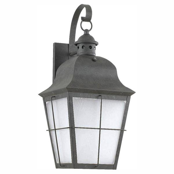Chatham 1-Light Oxidized Bronze Outdoor 21 in. Wall Lantern Sconce