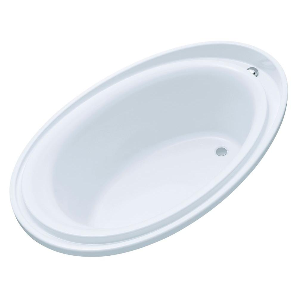 Kohler Purist 6 Ft Reversible Drain Drop In Acrylic Soaking Tub White