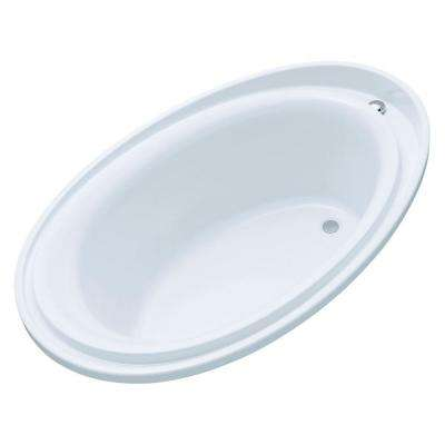 Purist 6 ft. Reversible Drain Drop-In Acrylic Soaking Tub in White