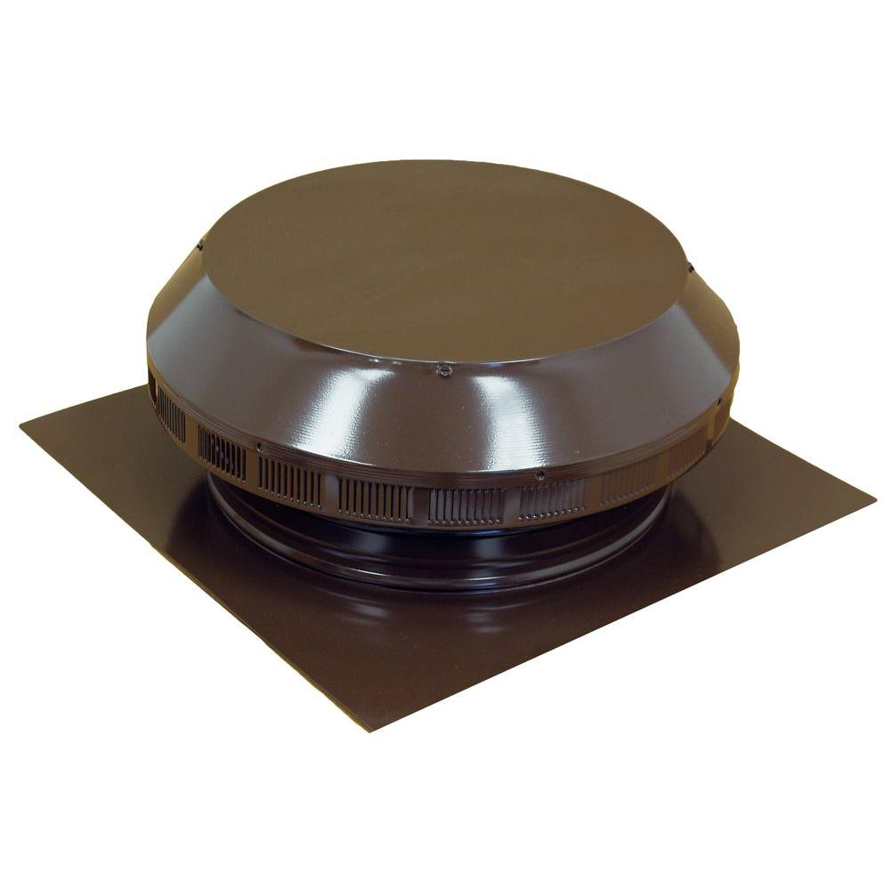 14 in. Dia Aluminum Roof Louver Exhaust Vent in Brown Powder
