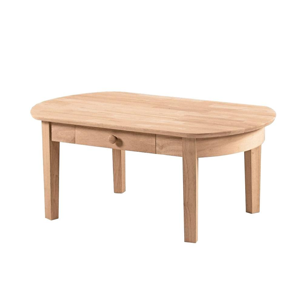 International Concepts Phillips Unfinished Coffee Table