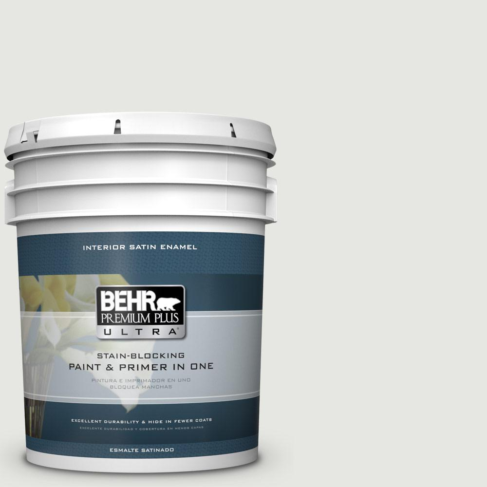 5 gal. #HDC-NT-10G Wedding Cake White Satin Enamel Interior Paint
