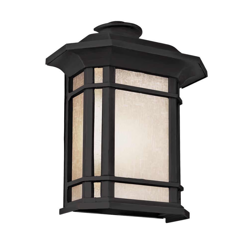 San Miguel 2-Light Black Outdoor Wall Mount Lantern