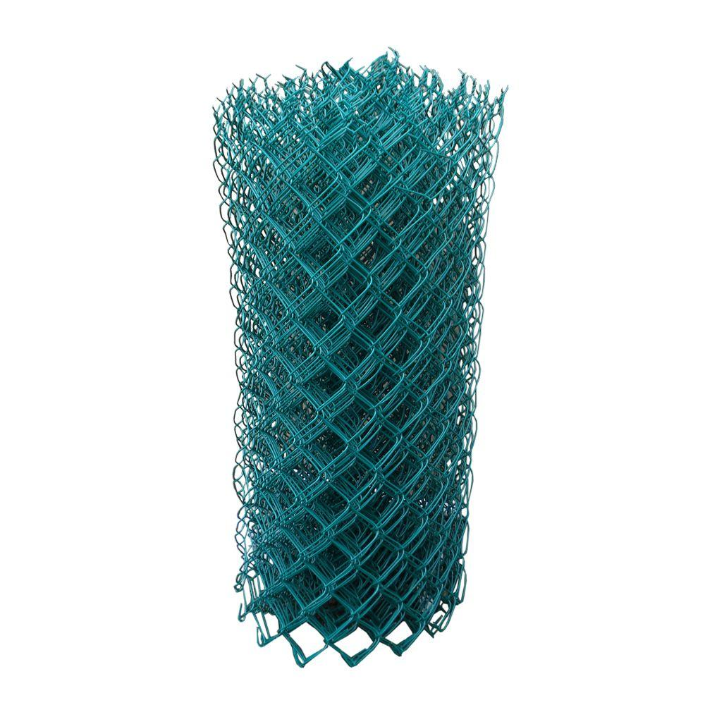 5 ft. x 50 ft. 11-1/2-Gauge Green Vinyl-Coated Cyclone Fence