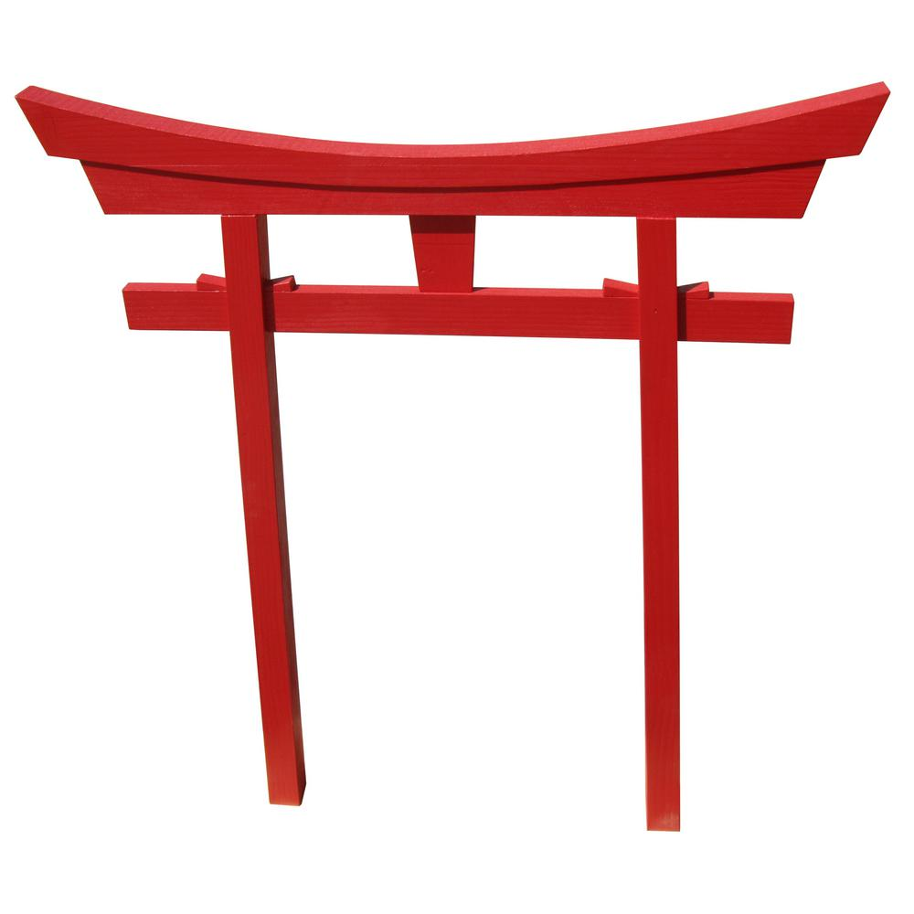 Miniature Red Japanese Shinto Torii Gate
