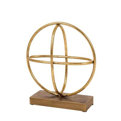 10.83 in. H Gold Accent Sphere Tabletop Decor