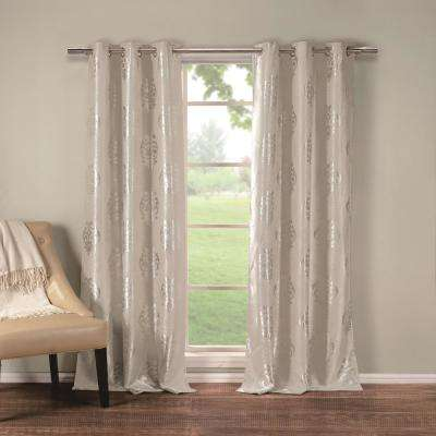 Hastings 36 in. x 84 in. L Polyester Blackout Curtain Panel in Taupe (2-Pack)