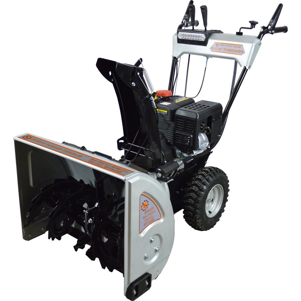 24 in. 2-Stage Gas Snow Blower with 212cc Electric Start ...