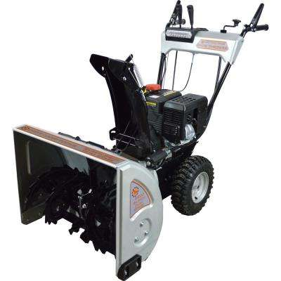24 in. 2-Stage Gas Snow Blower with 212cc Electric Start Engine and Heated Grips