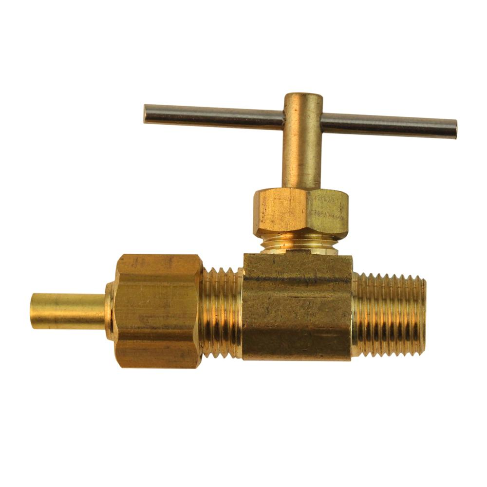 1/4 in. OD Compression x 1/8 in. MIP Brass Valve Fitting