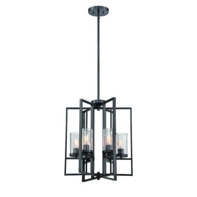 Elements 4-Light Charcoal Interior Incandescent Hall and Foyer