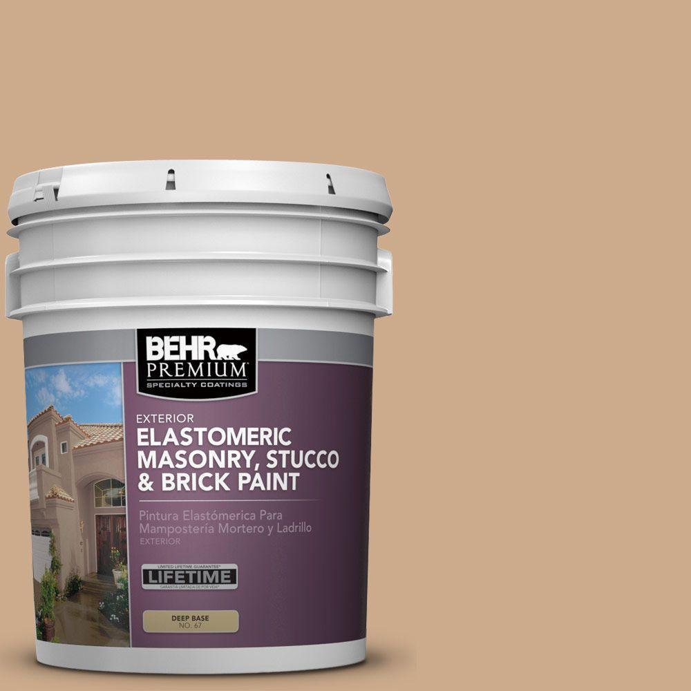 5 gal. #MS-30 Husk Elastomeric Masonry, Stucco and Brick Exterior Paint