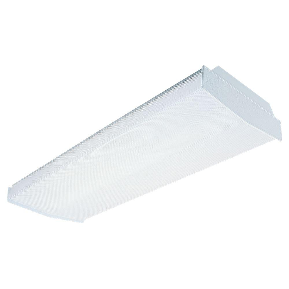 Fluorescent Light Fixtures Home Depot: Sea Gull Lighting Averil 4-Light White Fluorescent Ceiling