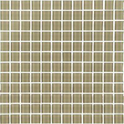 Metro Jerusalem Brown 12 in. x 12 in. x 6 mm Glass Mosaic Tile