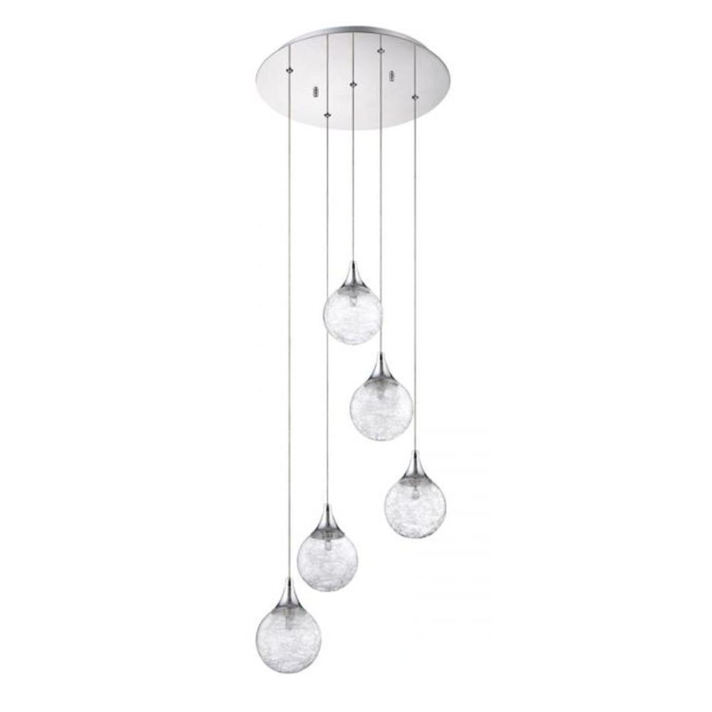 Filament Design Adrasta 5-Light Chrome Multi Light Pendant