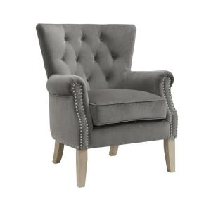 Swell Dorel Tilda Gray Accent Chair Fh7563 Gr The Home Depot Bralicious Painted Fabric Chair Ideas Braliciousco