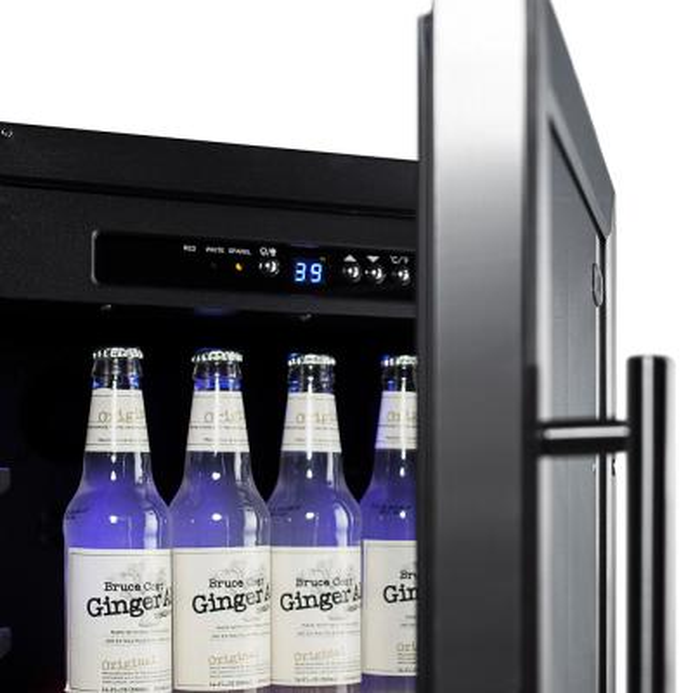 18 in. 2.7 cu. ft. Mini Refrigerator with Glass Door in Black