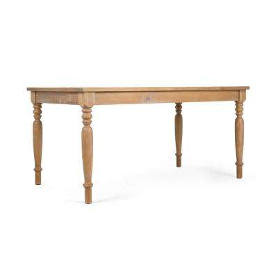 Linda Distressed Oak Dining Table