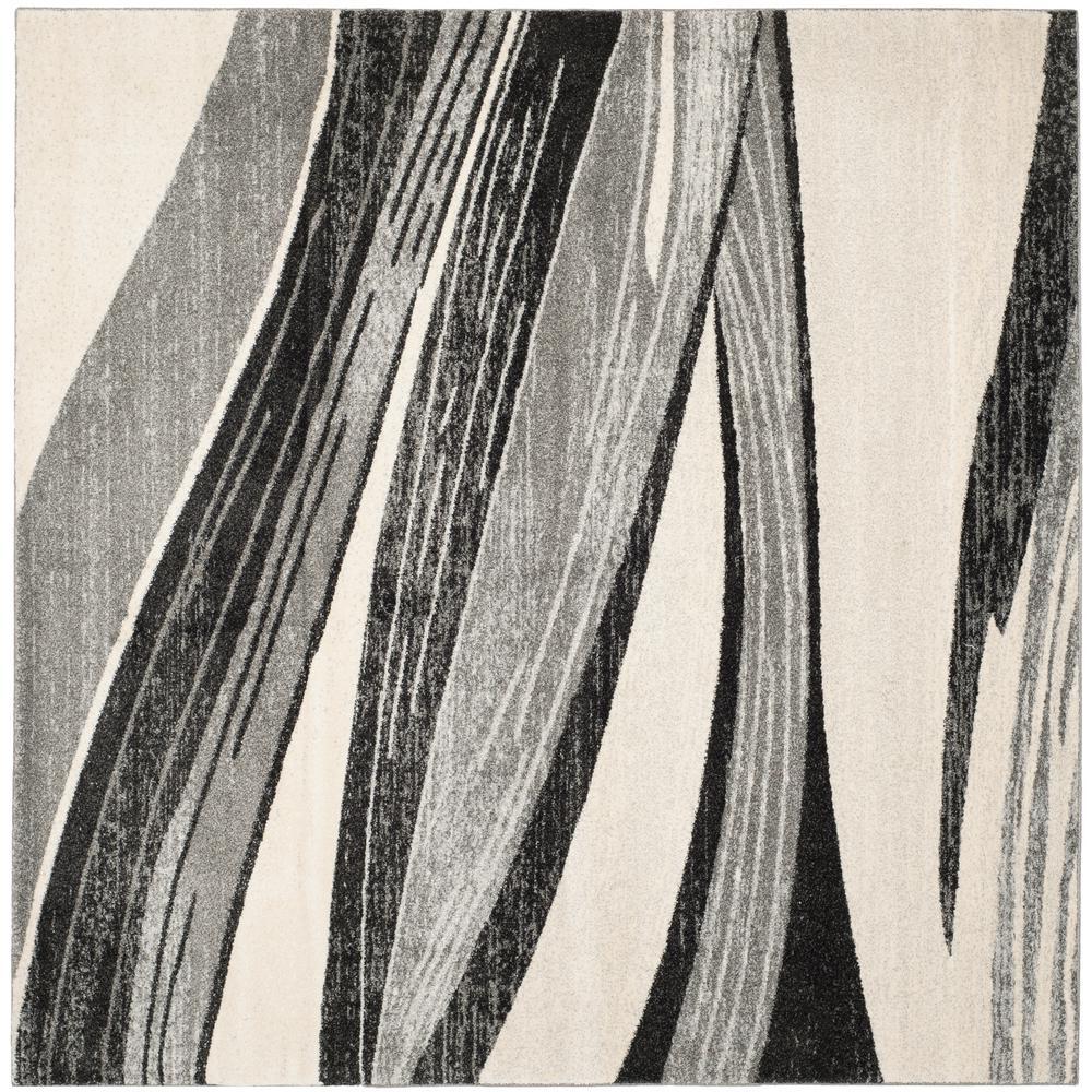Safavieh Retro Mid Century Modern Abstract Grey Ivory Rug: Safavieh Soho Light Grey/Ivory 8 Ft. X 8 Ft. Square Area