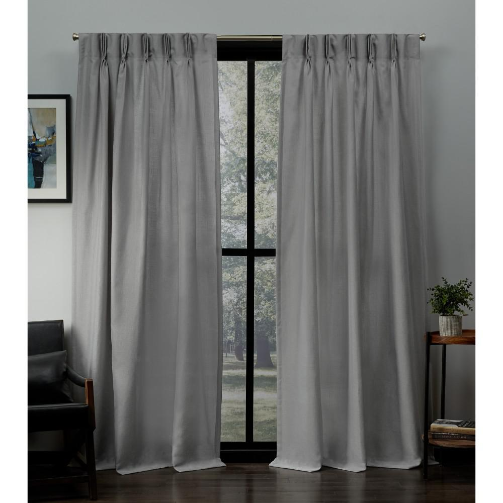 grey linen curtains modern exclusive home curtains loha dove grey linen pinch pleat top curtain 27 in