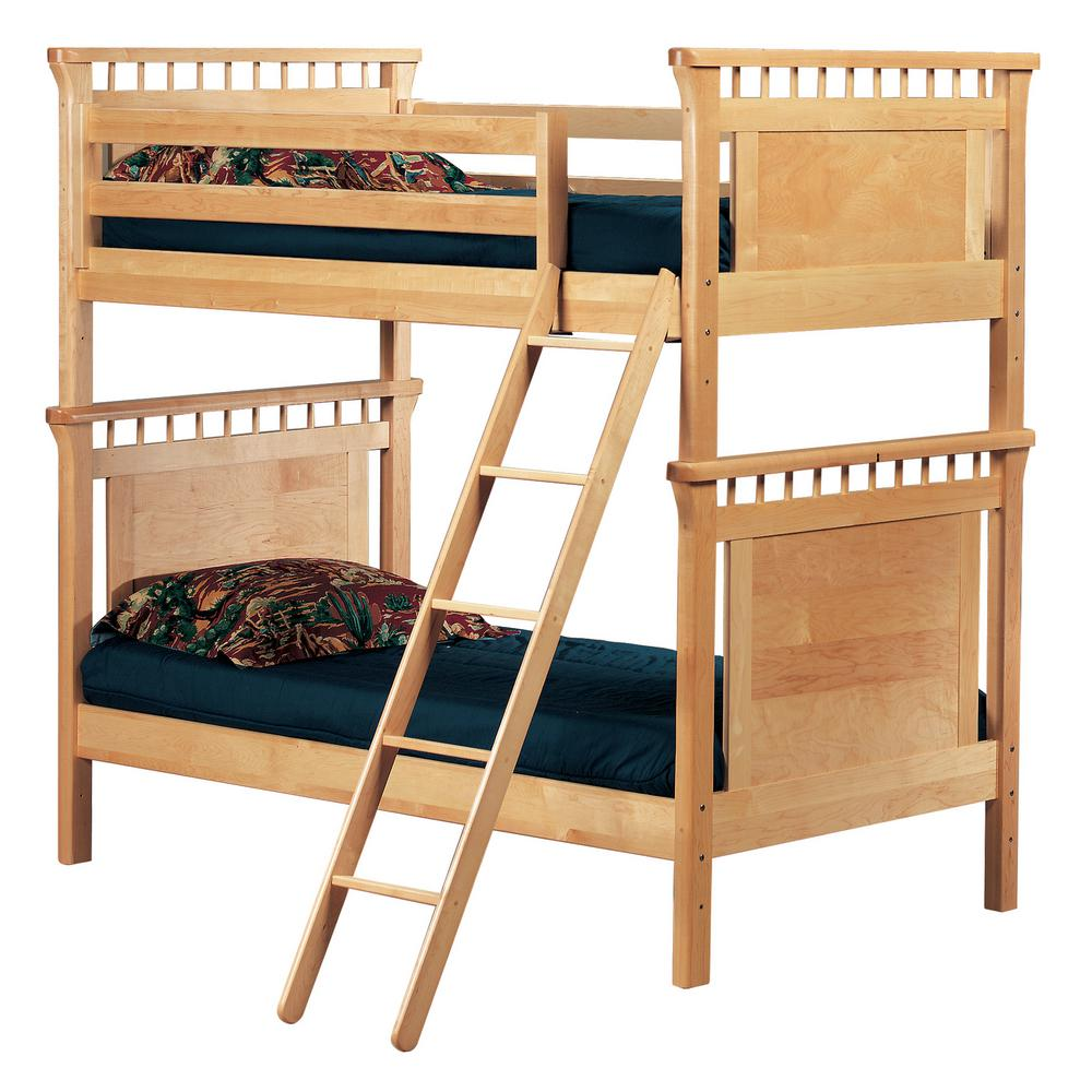 Bennington Natural Twin Bunk Bed 9850n00 The Home Depot