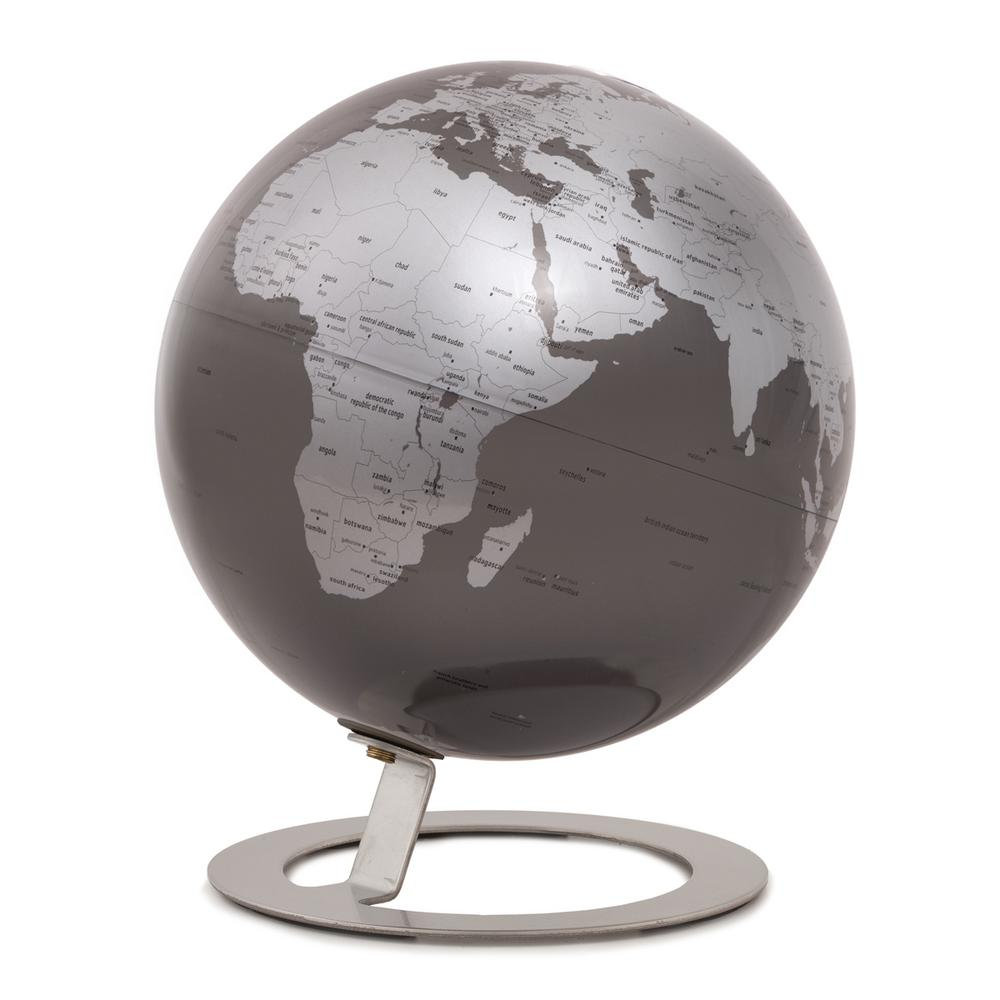 FANTASTIC ANTIQUE ART DECO STYLE  WORLD GLOBE WITH JET PLANE AIRCRAFT DESK TOP