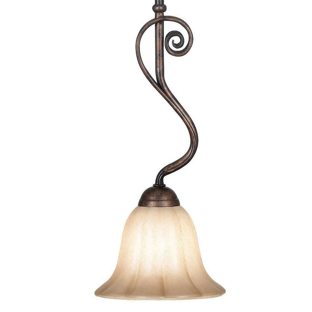 Kenroy Home Wallis 1-Light Burnished Bronze Mini Pendant