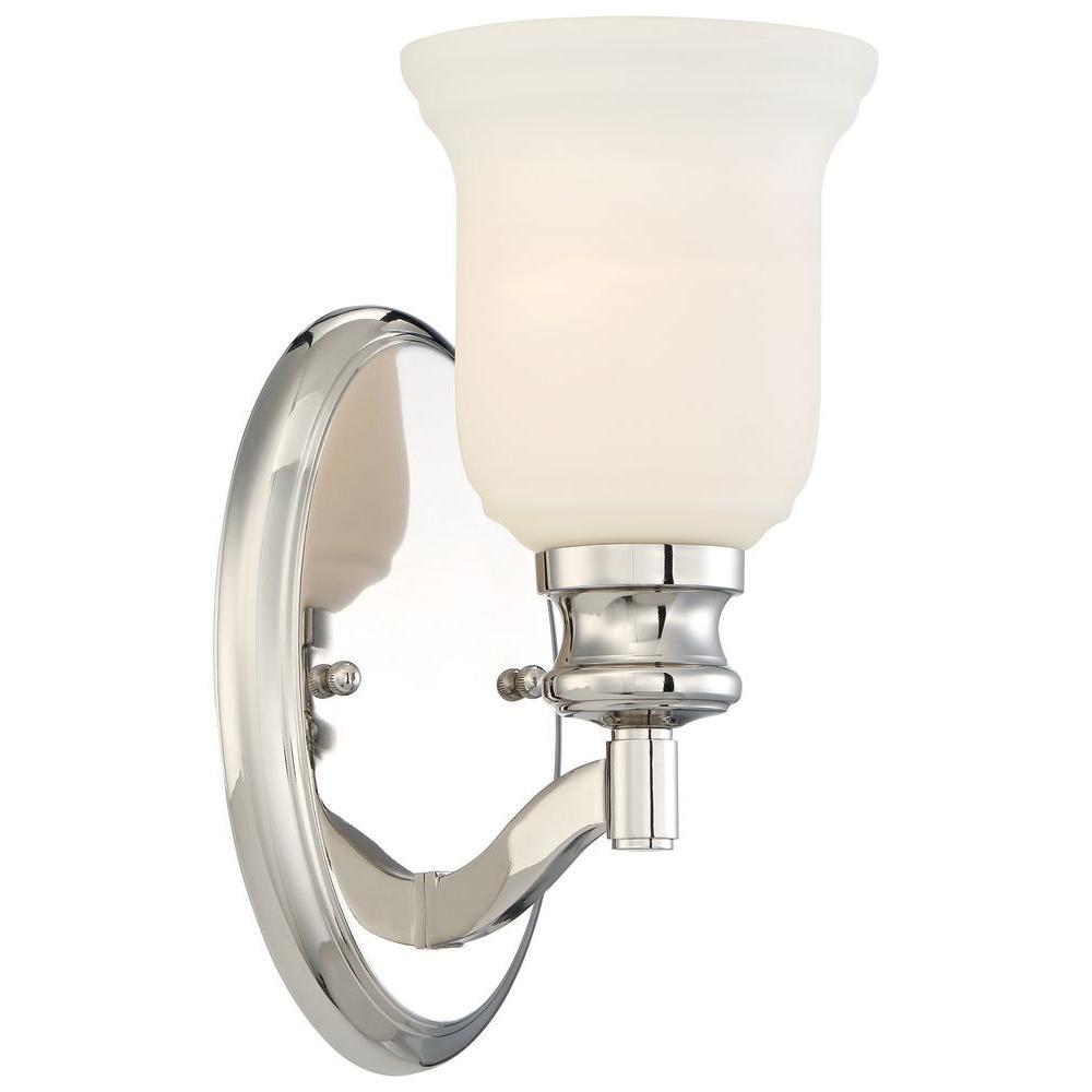 Audreys Point 1-Light Polished Nickel Bath Light