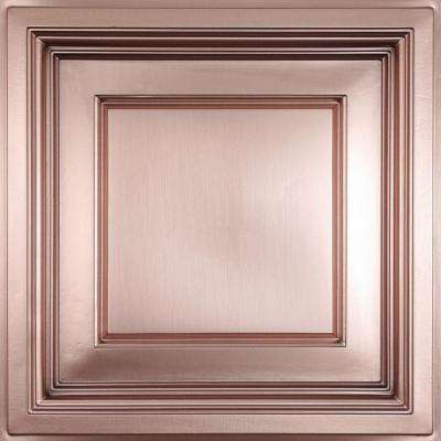 Madison Faux Copper 2 ft. x 2 ft. Lay-in Coffered Ceiling Panel (Case of 6)
