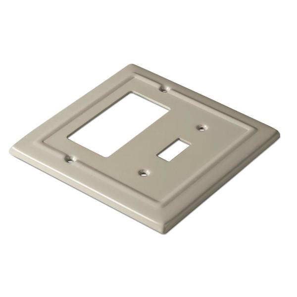 Monarch Abode Sandtone 2 Gang 1 Toggle 1 Decorator Rocker Wall Plate 1 Pack 19355 The Home Depot