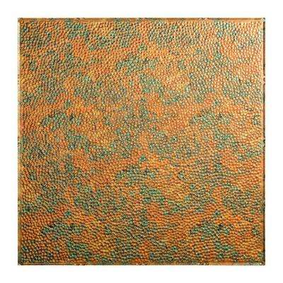 Hammered - 2 ft. x 2 ft. Lay-in Ceiling Tile in Copper Fantasy