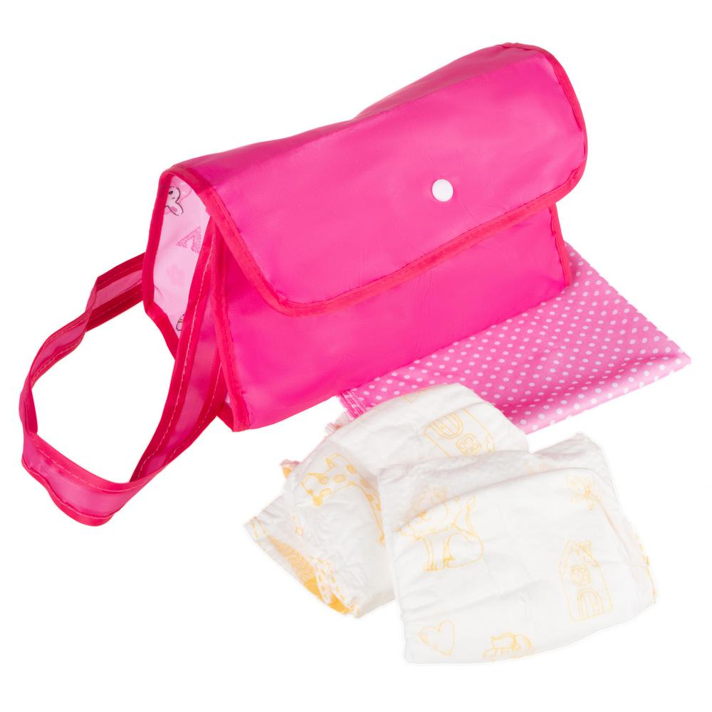 Hey Play Baby Doll Diaper Bag With Accessories