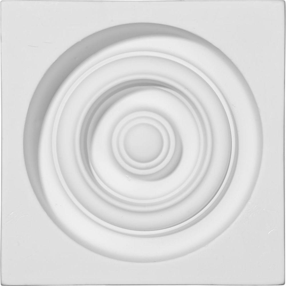 Ekena Millwork 5-3/8 in. x 1-3/4 in. x 5-3/8 in. Reece Pl...