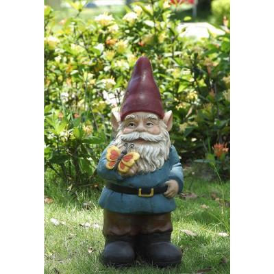 Gnome Holds Butterfly