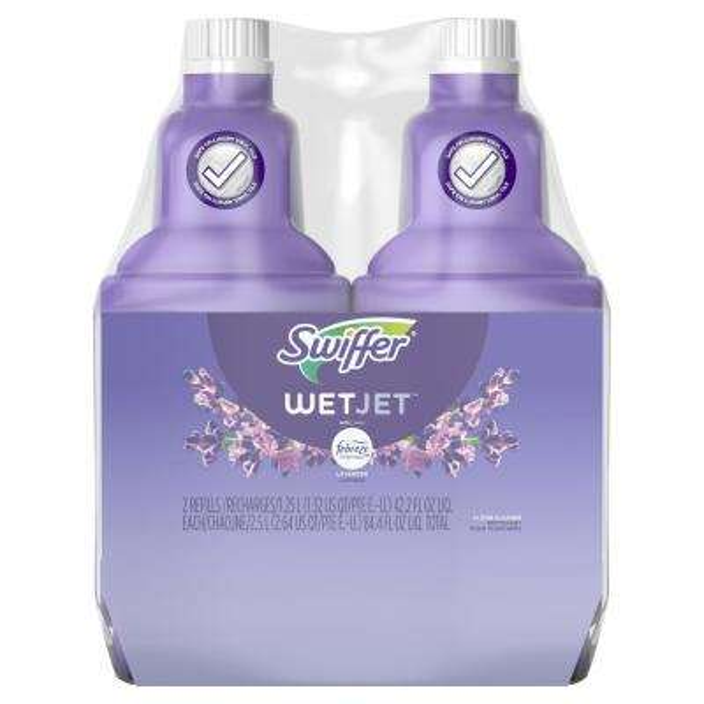 WetJet 42.2 oz. Lavender Vanilla and Comfort Scent Liquid Mult-Purpose and Hardwood Floor Cleaner Refill (2-Count)