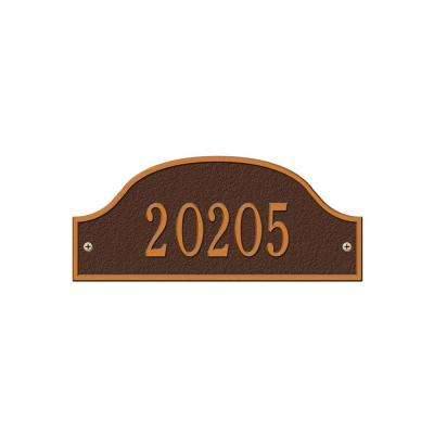 Admiral Petite Arch Antique Copper Wall One Line Address Plaque