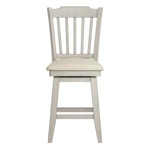 Terrific Homesullivan 24 In H Antique White Spindle Back Swivel Alphanode Cool Chair Designs And Ideas Alphanodeonline