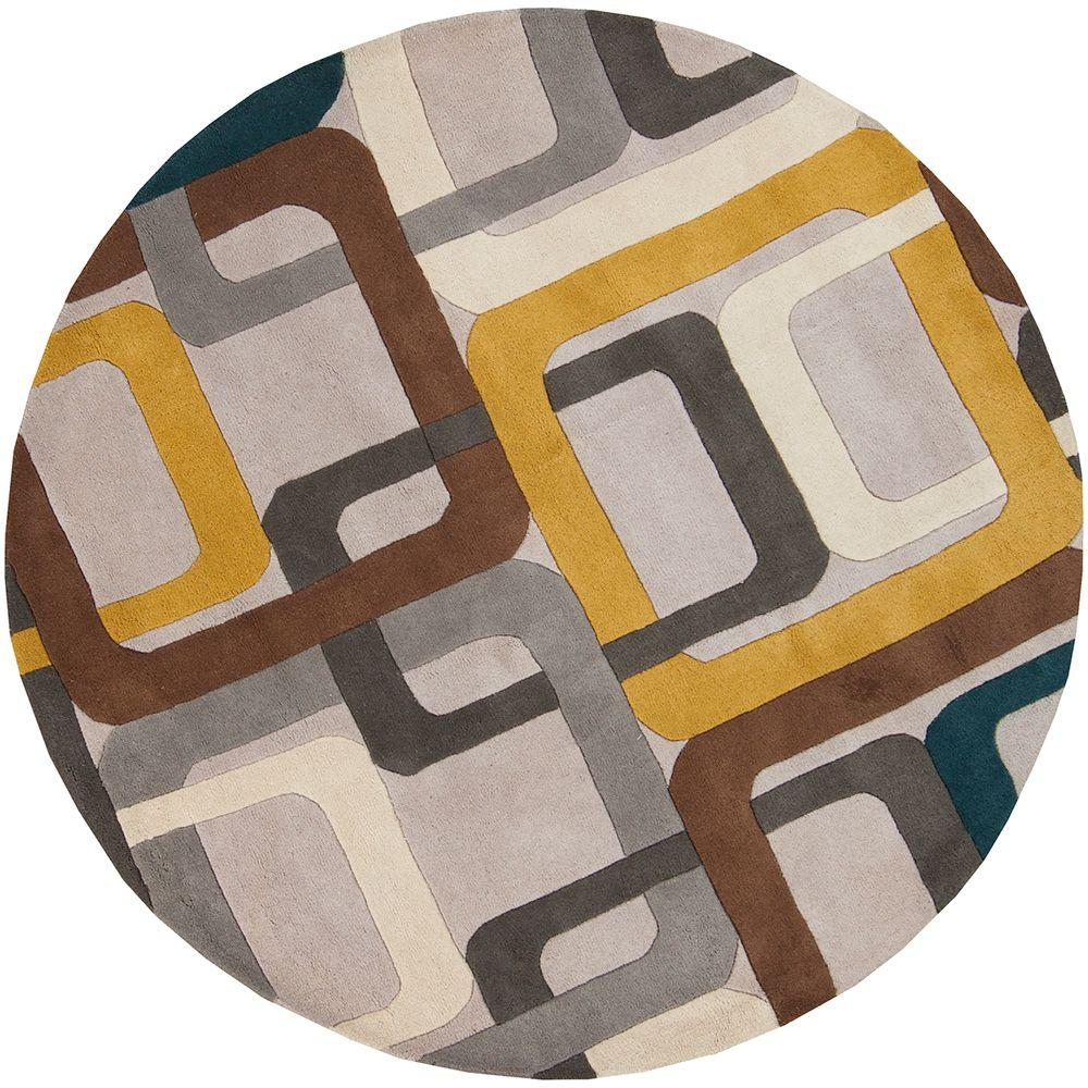 Michael Teal Blue 6 ft. Round Area Rug