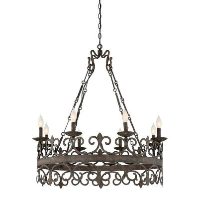 8-Light Fieldstone Chandelier