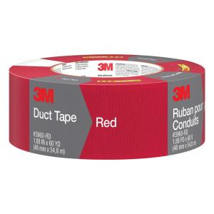 3M 1.88 inch x 60 yds. Red Duct Tape (Case of 9) by 3M