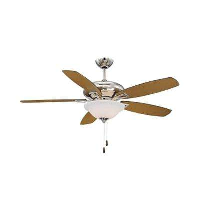 Agro 52 in. Polished Nickel Indoor Ceiling Fan