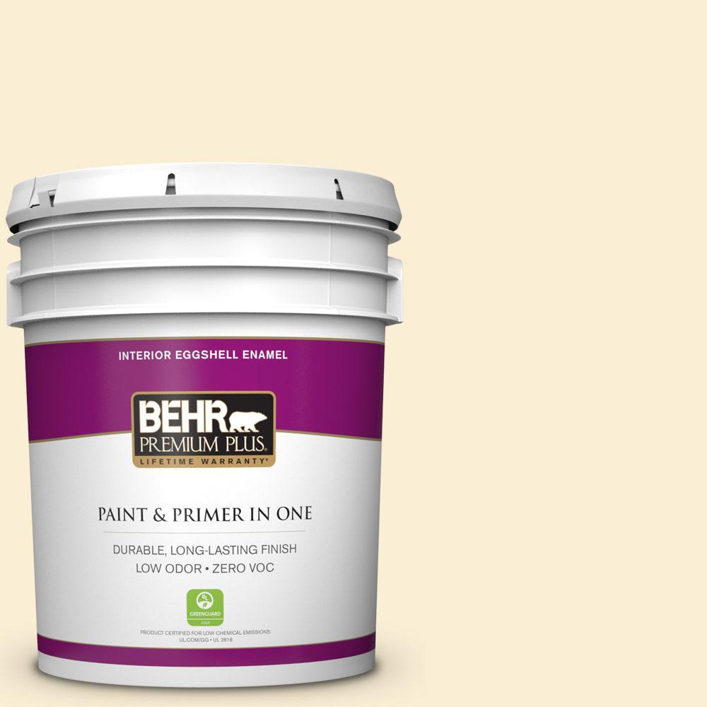 BEHR Premium Plus 5-gal. #M270-1 Pearly White Eggshell Enamel Interior Paint