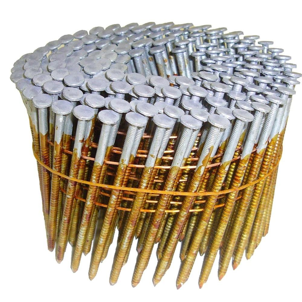 Hitachi 3-1/4 in. x 0.131 in. Full Round-Head Smooth Shank Electro Galvanized Wire Coil Framing Nails (4,000-Pack)
