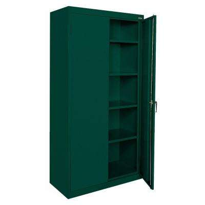 Classic Series 72 in. H x 36 in. W x 18 in. D Steel Freestanding Storage Cabinet with Adjustable Shelves in Forest Green